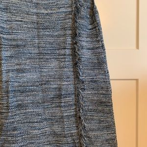 Anthropologie blue knitted dress